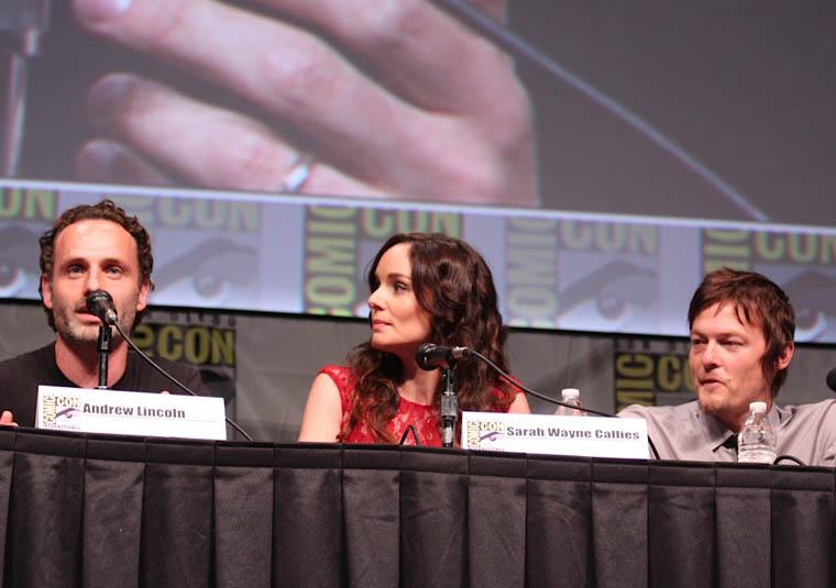 Andrew Lincoln (Rick Grimes), Sarah Wayne Callies (Lori Grimes) ve Norman Reedus (Daryl Dixon)