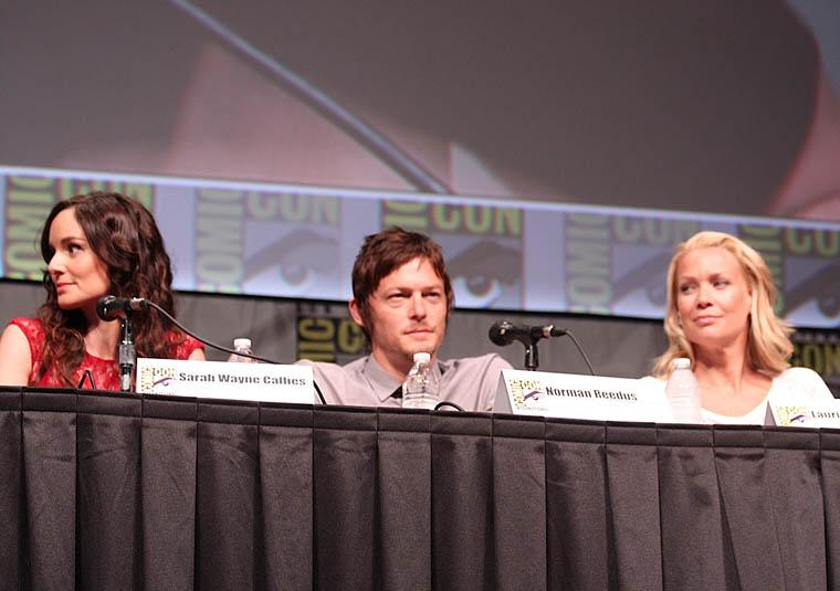 Sarah Wayne Callies (Lori Grimes), Norman Reedus (Daryl Dixon) ve Laurie Holden (Andrea)