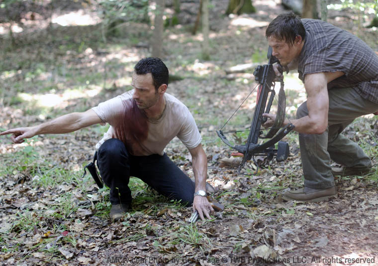 Rick Grimes (Andrew Lincoln) ve Daryl Dixon (Norman Reedus)