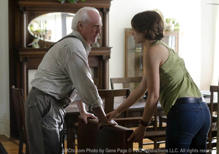 Hershel Greene (Scott Wilson) ve Maggie Greene (Lauren Cohan)