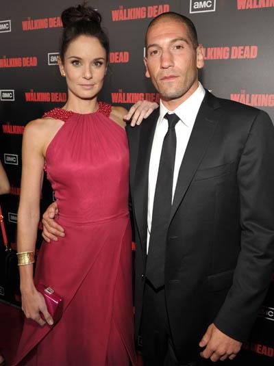Sarah Wayne Callies (Lori Grimes) and Jon Bernthal (Shane Walsh)