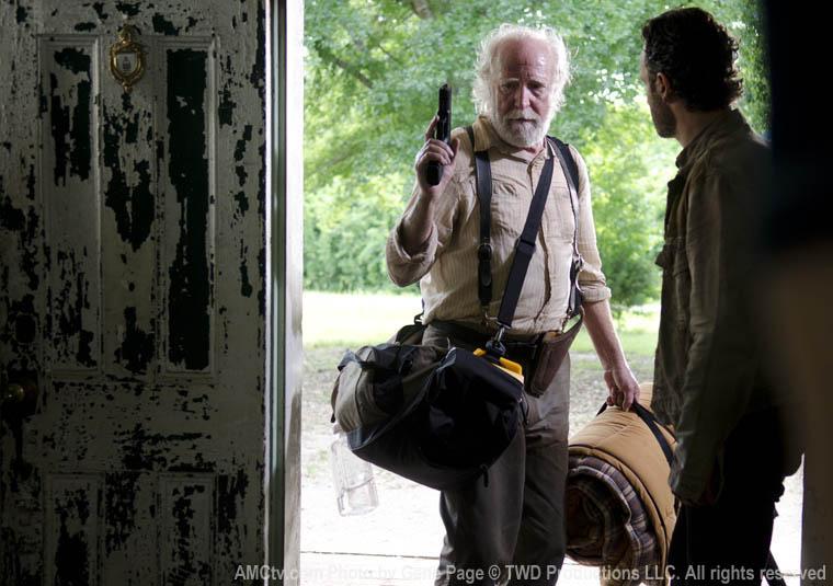 Hershel Greene (Scott Wilson) ve Rick Grimes (Andrew Lincoln)